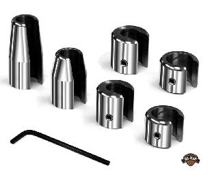 Chrome Re-Usable *Thick* Spoke Wheel Weights 6PC