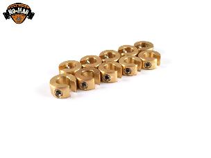 Brass Re-Usable Spoke Weights 10 pc. 1/4 oz.